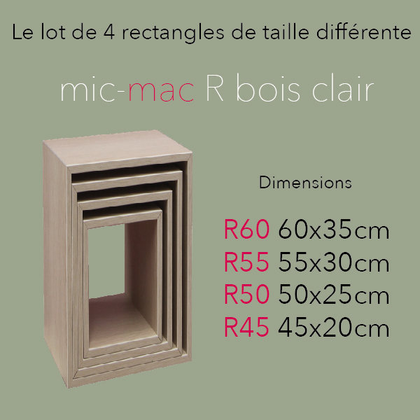 mic mac Rectangle bois clair