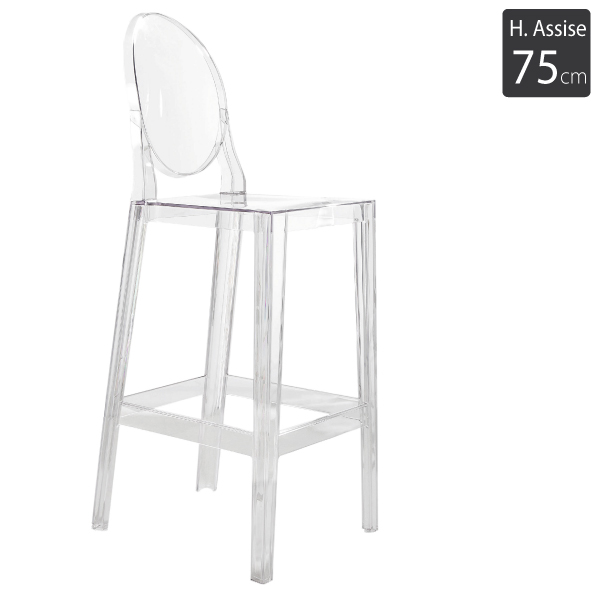 Tabouret haut One more H75cm